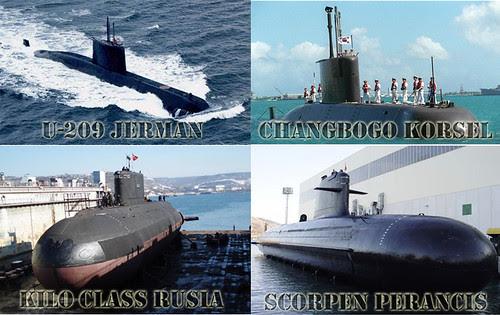Kapal Selam Yang Ditawarkan Pihak asing Untuk TNI-AL