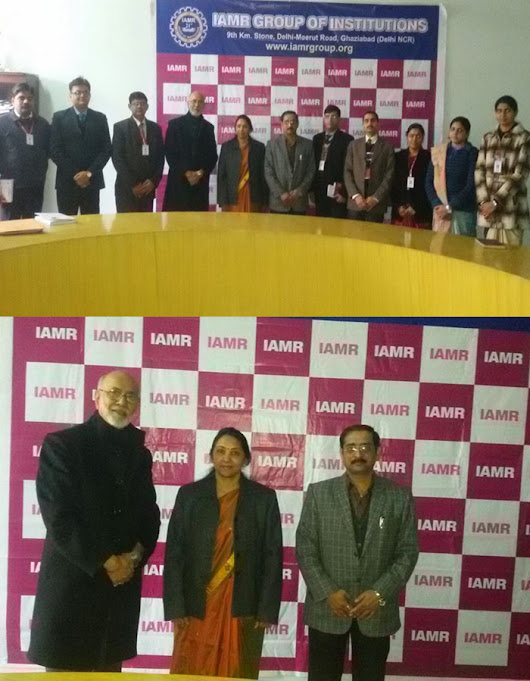 Management Guru Dr Pritam Singh( Padma Shree) at IAMR Group of Institutions