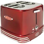 Nostalgia RHDT800RETRORED Retro Series 4-Slot Pop-Up Hot Dog Toaster