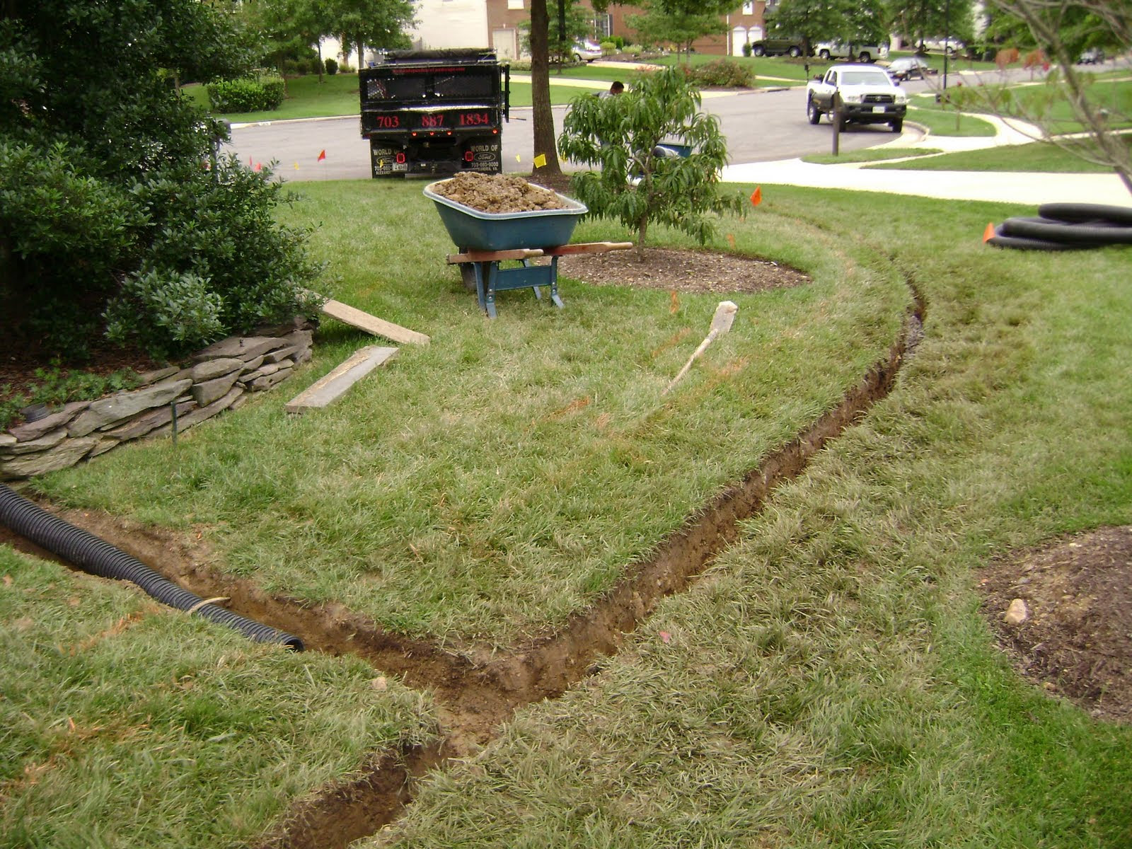 French Drain Central Oklahoma French Drains CMGdrainagesysytems