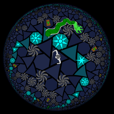 horocycles in the Temple of Cthulhu