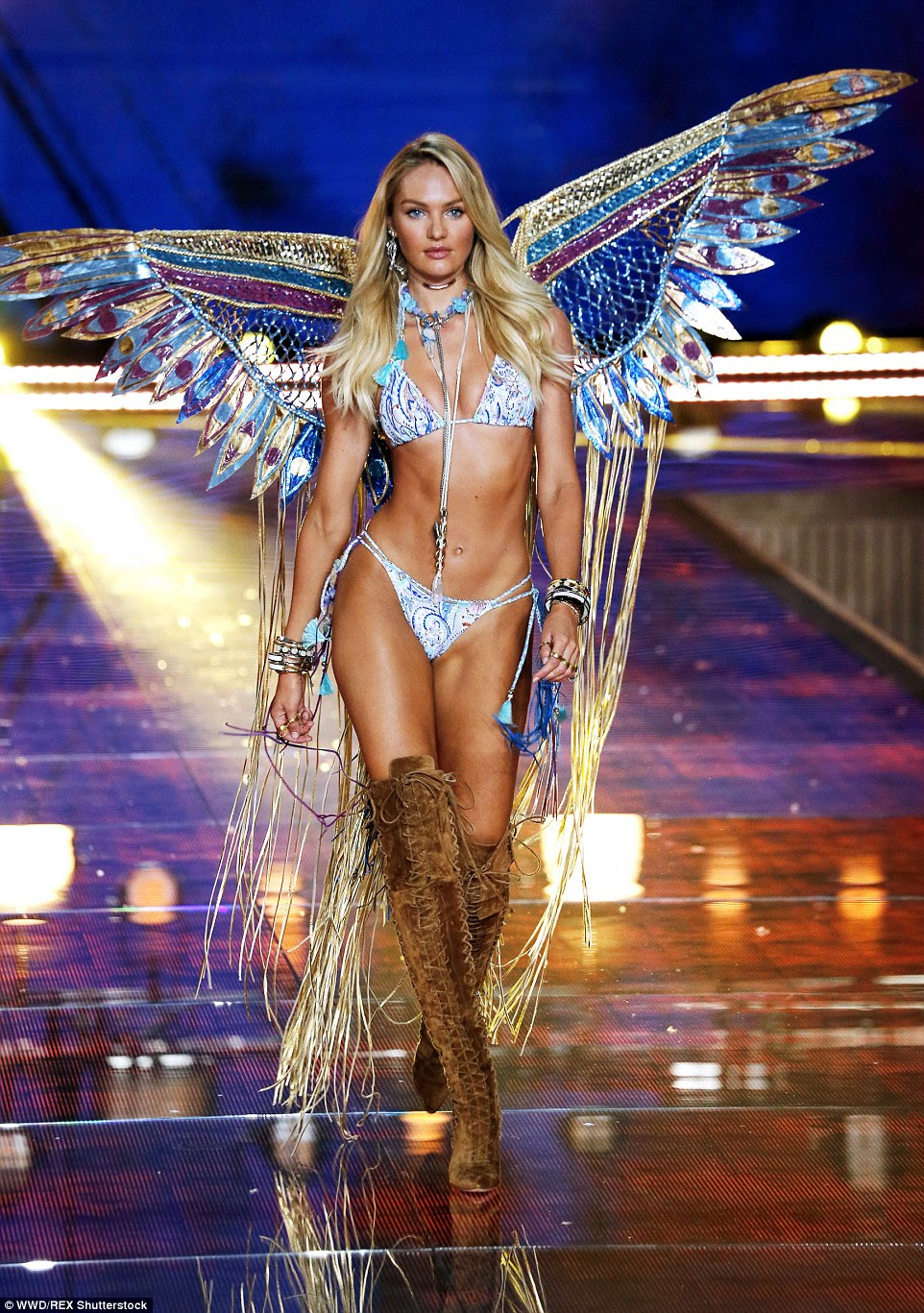 Pure Candice: Swanepoel wowed in a dramatic butterfly styled outfit