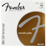 Fender 70L Light 80/20 Bronze Acoustic Guitar Strings