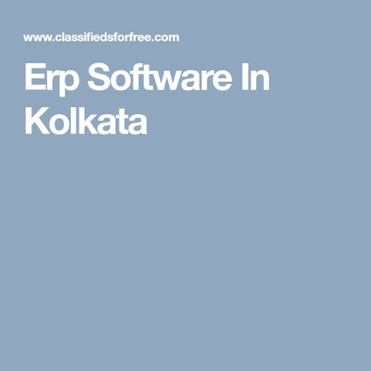 Erp Software In Kolkata | ERP software | Pinterest