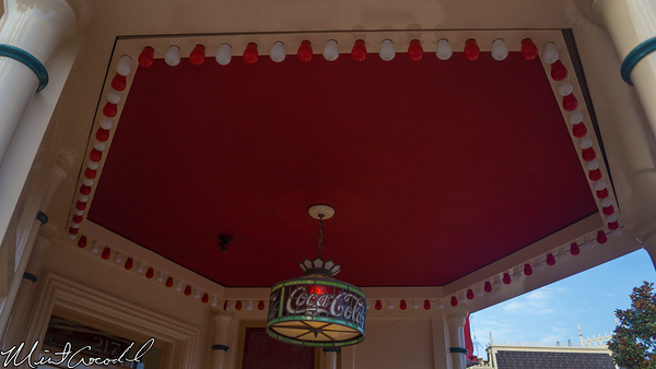 Disneyland Resort, Disneyland, Main Street U.S.A., Refreshment Corner, Coke Corner , Half and Half, Light Bulb, Red, White