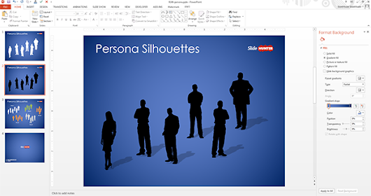 Free Persona Silhouettes PowerPoint Template - Free PowerPoint Templates - SlideHunter.com