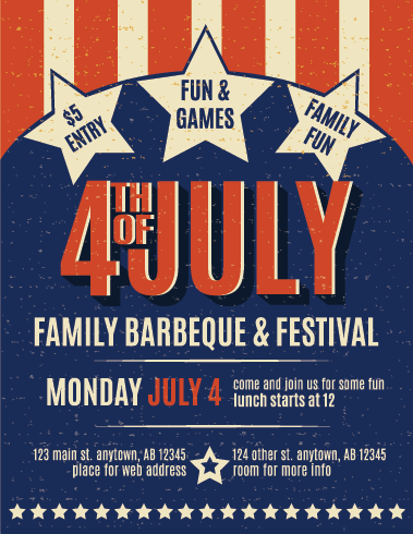 July 4th Holiday Printing Promotions For Sales July 4 Party