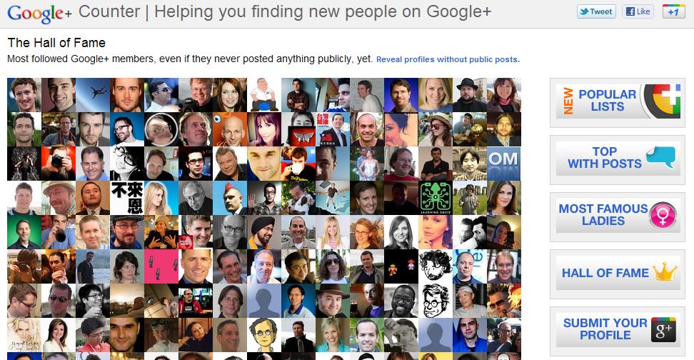 Google+counter
