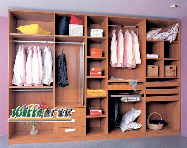 Modern design MDF bedroom furnitue wardrobe - China wood chest
