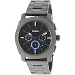 Fossil Men's Machine FS4931 Grey Stainless-Steel Plated Japanese Quartz Fashion Watch