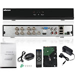 kkmoon 8ch channel full 960h/d1 dvr hvr nvr hd p2p cloud network onvif digital video recorder + 1tb hard disk support plug and play android/ios app fr