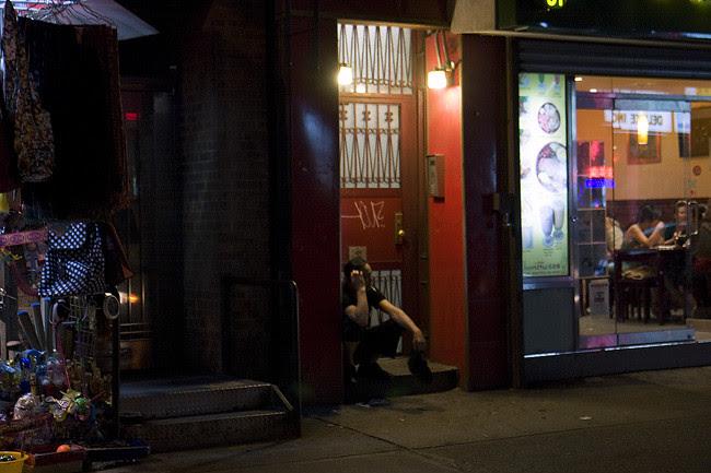 Chinatown stoop, NYC