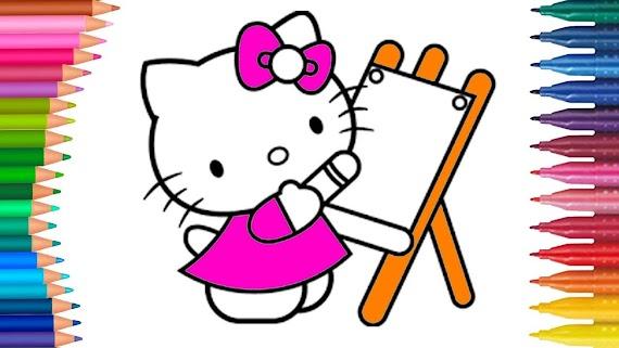 [Koleksi Terbaik] Gambar Hello Kitty Mewarnai