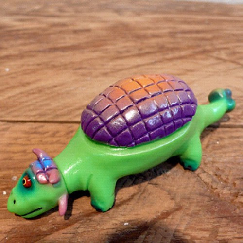 One-off Anklyoclops #3 - on the Grasshut site now!  http://grasshutcorp.com/blog/products-page/san-diego/rampage-toys-cycloptic-dinosaurs-green-anklyosaurus/