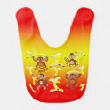 Bananas Monkeys Pattern Bib