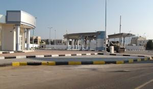 A tank in front of Aden's international airport…