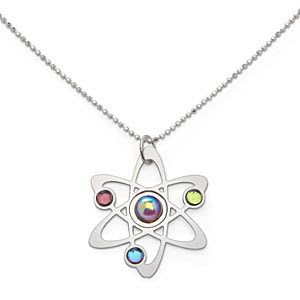 Rutherford-Bohr Model Atom Pendant