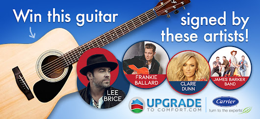 Upgrade To Comfort Guitar Sweepstakes