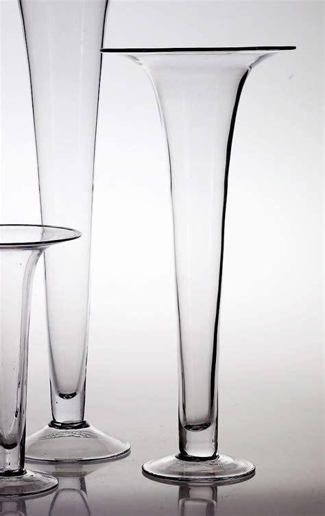 Tall Glass 24in Trumpet Vases Panache Vase