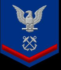 US Coast Guard Petty Officer Third Class insignia