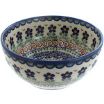 Vena Aztec Flower Cereal Bowl Polish Pottery