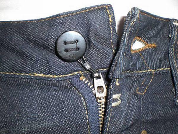 cremallera boton Cremallera atada al botón