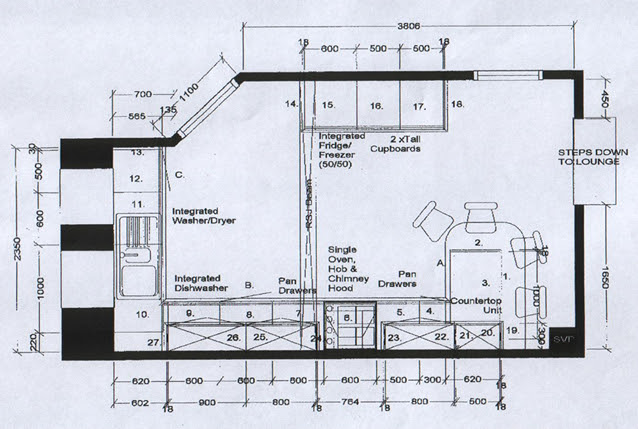 Kitchen Floor Plan Layouts Interior Design Ideas