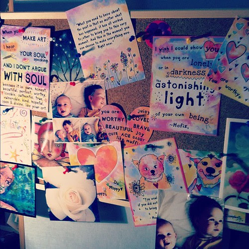 My updated rainbow pinboard #lifebook
