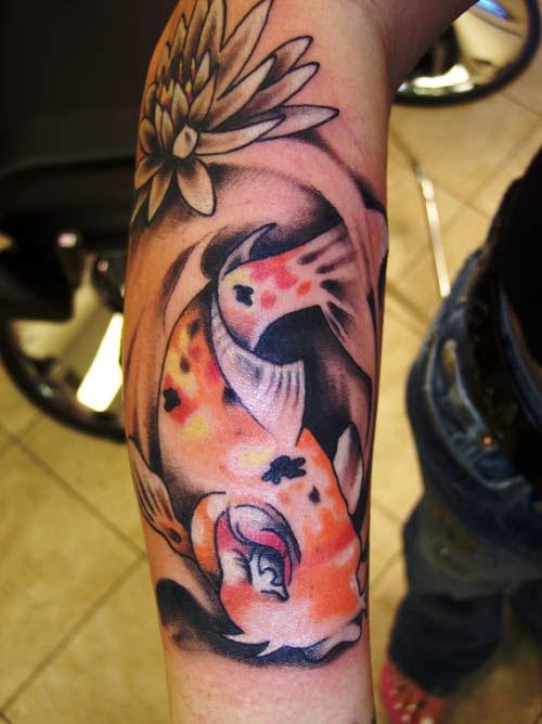 japanese koi fish arm tattoo