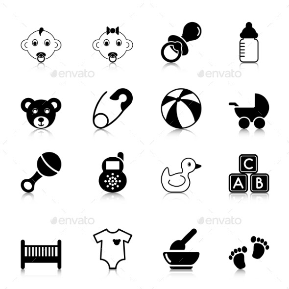 Baby Icons with Reflection (People) Download ~ Best GFX