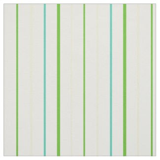 Custom Spring Green Stripes on White Pattern Fabric