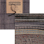 Primitive Gatherings Hand Dyed Wool Grey Cement Charm Pack 10 5-inch Squares PRI 6021