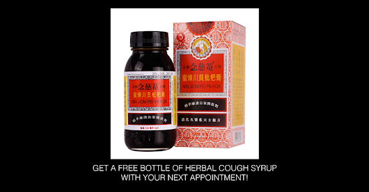 FREE BOTTLE OF HERBAL COUGH SYRUP WITH YOUR NEXT APPOINTMENT! – Princeton Acupuncture And Oriental Medicine