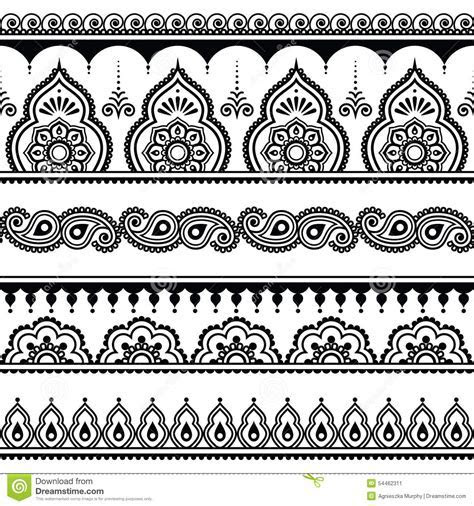 Mehndi, Indian Henna Tattoo Seamless Pattern, Design