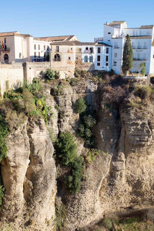 We drive to Ronda, a town across a 100m-deep gorge, spanned by bridges