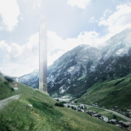 morphosis plans mirrored skyscraper for swiss valley site