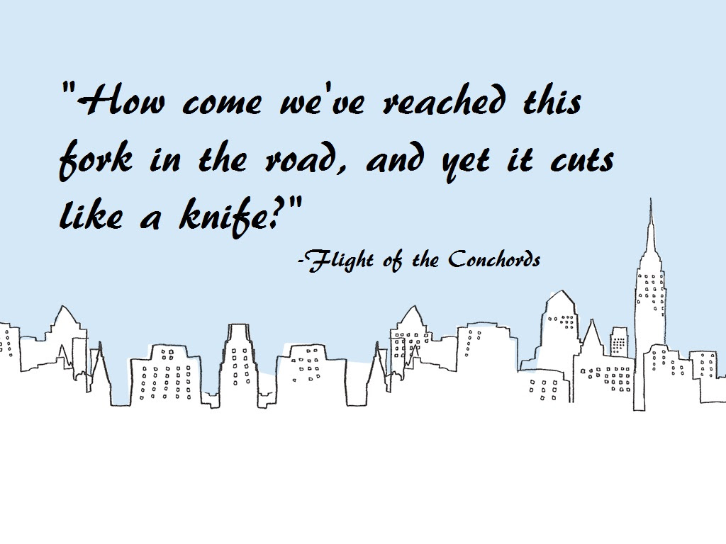 Fork In The Road Flight Of The Conchords 1024x768 Oc
