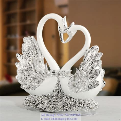 rose heart swan couple swan wedding gift ideas wedding