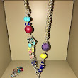 Fashion hand made in Italy set Necklace and Bracelet