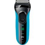 Braun - Series 3 Solo Electric Shaver - Black/Blue