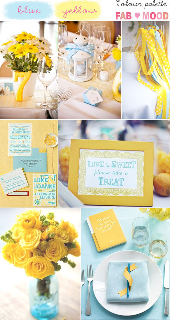 Blue Yellow Wedding Colors Blue And Yellow Wedding Colours