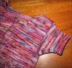 Feather & Fan Baby Sweater, sleeve 1