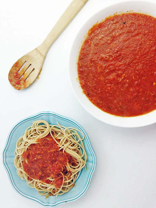 Slow Cooker Fresh Tomato Sauce