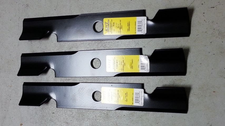 Set Of 3 Dixie Chopper Exmark Bad Boy Lesco 60 Lawn Mower Blades