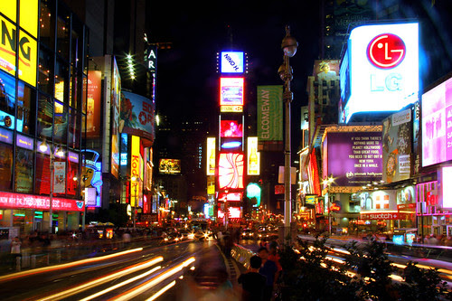 new york city time square at night. Time Square - New York