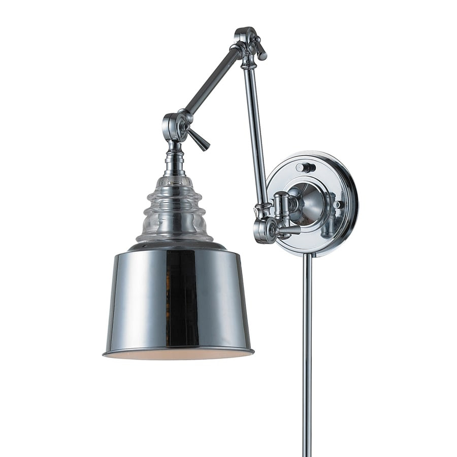 Shop Westmore Lighting 18-in H Polished Chrome Swing-Arm ...