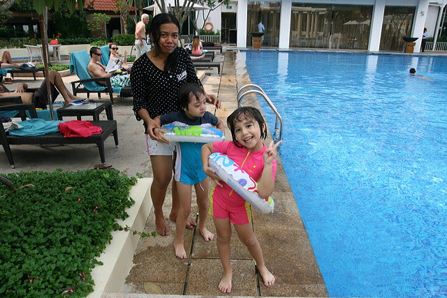 The highlight of staycations for the kids - the pool!