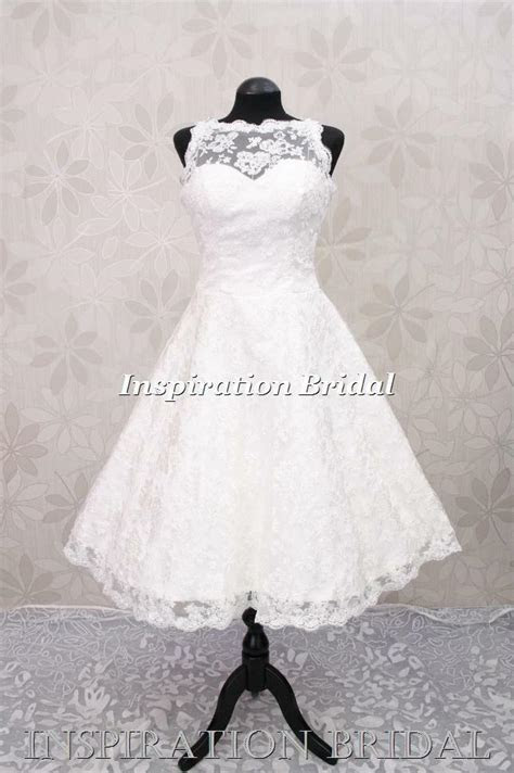 short wedding dress bridal gown lace vintage