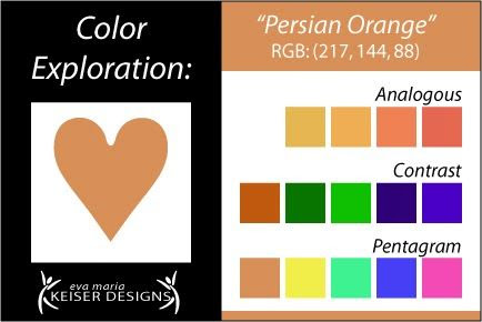 Eva Maria Keiser Designs: Explore Color: Persian Orange