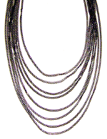 Kim Gilby Long black diamond cut chain necklace